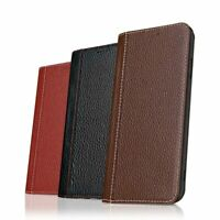 Luxury Genuine Leather Card Slot Magnetic Flip Cover Stand Case For Apple iPhone