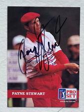 Payne Stewart signed Pro Set golf card 1992 #46 PGA tour