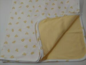 "Ralph Lauren Baby Neutral Baby Duck Print Blanket Soft Yellow 29½/"" x 26½/"""