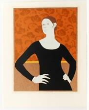 Amy Sherald Style Ardith Truhan Portrait of  Woman Modernism Red Wall #355T