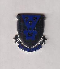 503rd PARACHUTE AIRBORNE INFANTRY REGIMENT crest DUI badge c/b clutchback G-23