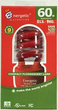 Energetic Lighting 60W Equivalent Red Spiral CFL Light Bulb FE153-13SR-VP1 NEW