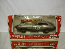 POLISTIL SN02 JAGUAR XK-E 4.2 LITRE - GREY 1:25  - GOOD IN BOX