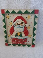 Wood Santa In Chimney Kitchen Magnet Christmas Decoration
