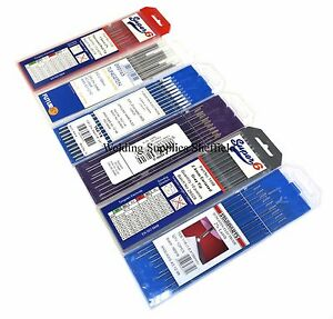 Tig Welding Tungsten Electrodes 1.6mm x10 (Red, white, blue, grey available)