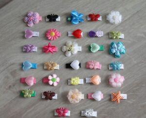 Baby 3 Haarspangen Sparset zur Wahl Blume Schmetterling Herz style_street