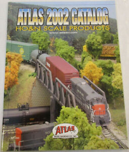 2002 Atlas Catalog for HO and N Scale Products