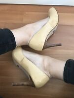Buffalo Lack High Heels Pumps Stiletto Hoch Viel Getragen 37