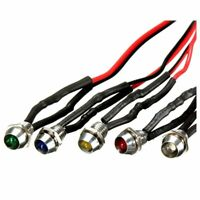 5 x 12V 6mm Car Metal LED Indicator Lights Bulb Pilot Dash Lamp each of 5  W2W4)
