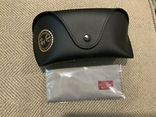 Ray Ban Black  Leather Sunglass / Eye Glass Case w/ Cleaning Cloth