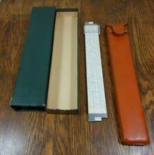K+E #N4081-3S Log Log Duplex Decitrig Slide Rule With Leather Case & Box