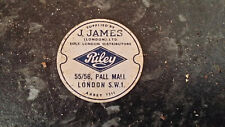 Riley Car Suppliers Badge J James Pall Mall