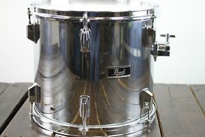 Pearl Maple Shell 14 x 12 Rack Tom Drum - Mirror Chrome  Made in Japan  #R8153
