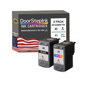 PG-40 Black CL-41 Color 2PK Ink Cartridges for CanonPixma iP1600 MP140 MP180