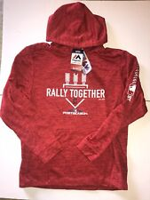 Majestic Cleveland Indians 2018 Rally Together Hoodie Therma Base Mens Sz Medium