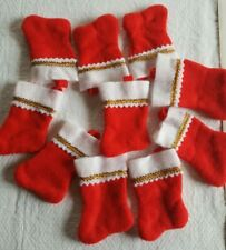 10 NWOT Miniature Christmas Stocking for Crafts Decorating