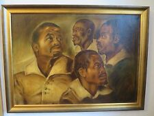 AFRICANISME VISAGES D'AFRICAINS ETUDE HST SIGNE ENCADRE 58 x 78 cm D'AP. RUBENS