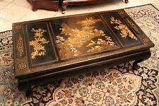 Table basse de salon rectangulaire à décor laqué Extrême-Orient début XXe Chine