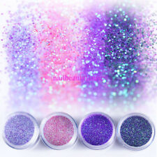 10ml Nail Glitter Dust Powder Nail Art Tips Manicure Decoration Set DIY Craft