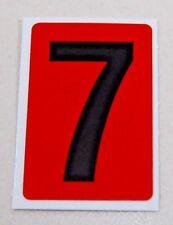 "1"" Adhesive # ""7"" Utility Labels, Black on Orange 25/pk - 10086361s"