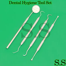Dental Hygiene Tool Set Stainless Steel Dental Tooth Pick Mouth Mirror And