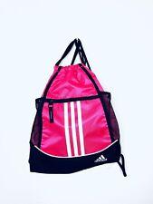 Adidas Drawstring Bag Gymsack Backpack Pink Black Travel Gym Pull String Sport