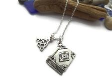 CHARMED inspired TRIQUETRA KNOT silver charm necklace TV fan gift WITCHES UK