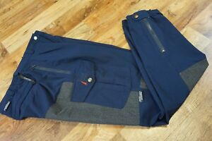 Vintage Women's SCHOELLER KEPROTEC XTEND Hiking Camping Trousers Blue Size 38