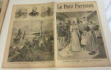Le petit parisien 1893 214 Fête mi-carême reine des blanchisseuses cycliste