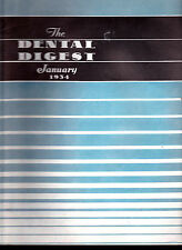 1934 The Dental Digest - 11 issues- Denture Techniques, Vincent's Infection