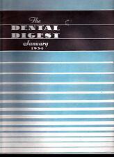 1934 The Dental Digest - 11 issues- Denture Techniques, Vincent's Infection
