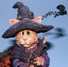 Boyds Sabrina & Boo Witch cat, ghost, pumpkin