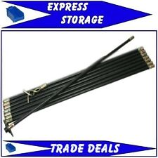 DRAIN ROD KIT WITH  100mm rubber plunger and 50mm double worm screw. 7.4m LONG