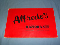 VINTAGE  ALFREDO'S RISTORANTE SENECA TURNPIKE NEW HARTFORD NEW YORK  MENU