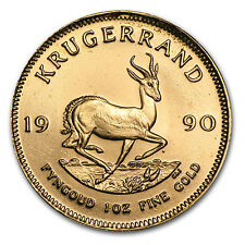 1990 South Africa 1 oz Gold Krugerrand - SKU #60324