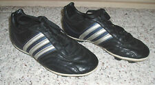 Boys Girls Youth Junior Unisex ADIDAS Soccer Cleats Shoes~Black / White~Size 2.5