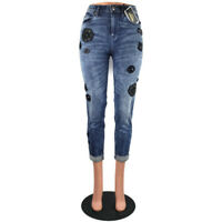 Juicy Couture Black Label Women's Denim Water Wash Girlfriend Jeans Embroidered