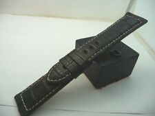 PANERAI RARE BLACK ORIGINAL ALLIGATOR STRAP - NOS
