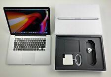 """Apple MacBook Pro Retina 15,4"""" i7 2,6 Ghz 1 TB SSD 16 GB VOLLAUSSTATTUNG SILBER"""