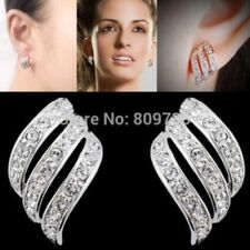 Crystal Stud White Gold Filled Costume Earrings