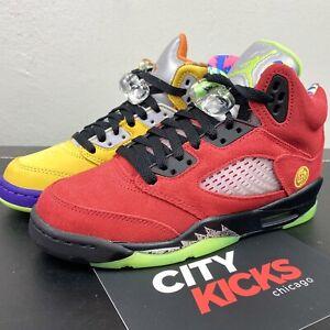New Nike Air Jordan 5 Retro GS Sz 3.5Y Womens Sz 5 What The Shoes AJ5 CZ6415 700