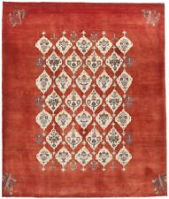 Hand-knotted Persian tribal Zollanvari rug. 5'x 6'