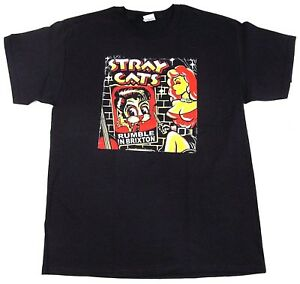 STRAY CATS T-shirt Brian Setzer Rockabilly Rumble In Brixton Adult Men's Tee New