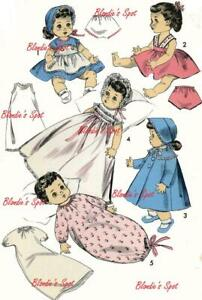 """Doll Clothes PATTERN 8454 for 10 1/2"""" Betsy Wetsy Tiny Tears Dydee Suzy by Ideal"""