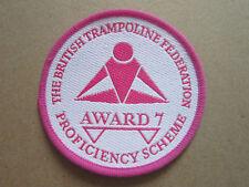 British Trampoline Federation Proficiency Award 7 Woven Cloth Patch Badge