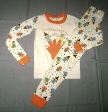 Hanna Andersson HALLOWEEN PUPPET SHOW Organic Long John Pajamas size 140
