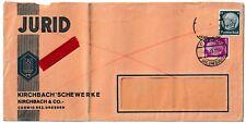 Briefumschlag JURID - Kirchbach´sche Werke Kirchbach & Co. Coswig Eilbote 1935