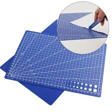 1xBlue A4 PVC Self Healing Cutting Mat Craft Quilting Grid Lines Printed ""