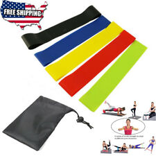 latex rubber Resistance Exercise Bands Booty Workout Loops gym leg arm Set of 5