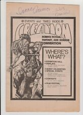 New ListingCreation Sci Fi Convention 1982 Program Issac Asimov & Wes Craven Autograph